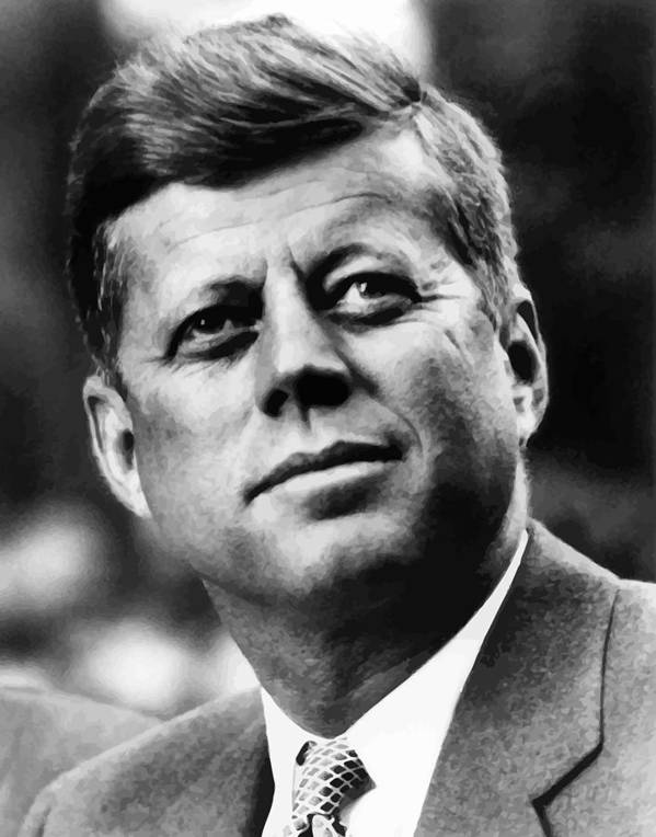 Jfk Print featuring the painting President Kennedy by War Is Hell Store