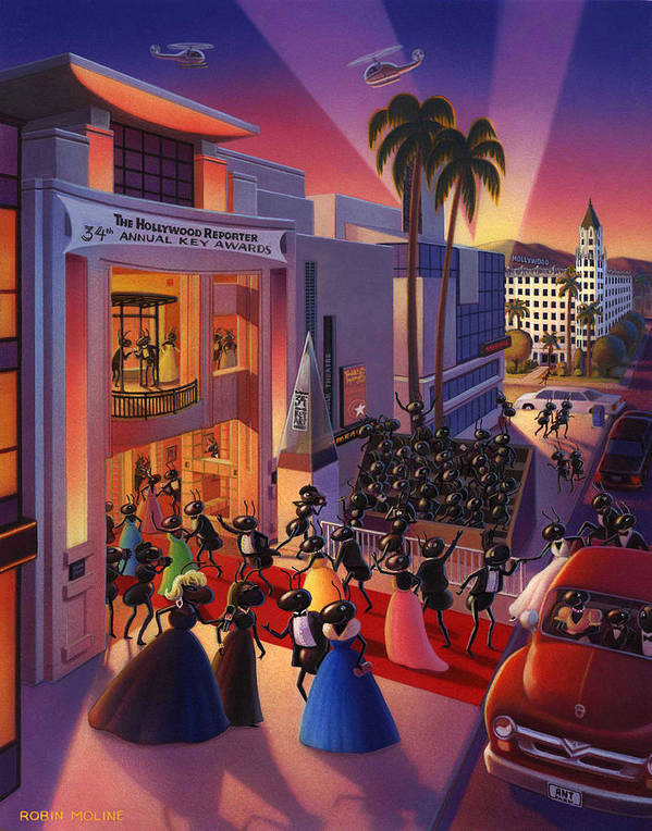 Ants Print featuring the painting Ants Awards Night by Robin Moline