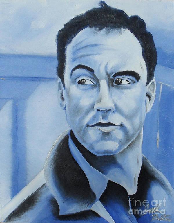 Dave Matthews Print featuring the painting Dave Matthews - Some Devil by Joseph Palotas