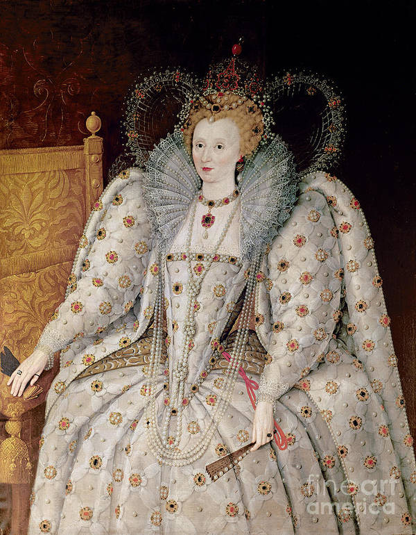 Queen Print featuring the painting Queen Elizabeth I Of England And Ireland by Anonymous