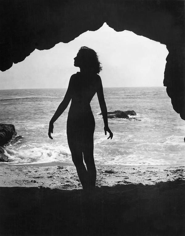 Mid Adult Print featuring the photograph Woman On Beach by Sasha