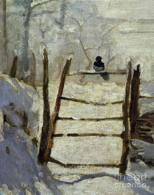 Art; Painting; 19th Century Painting; Seasons; Europe; France; Monet Claude; Winter; Winter Print featuring the painting The Magpie by Claude Monet