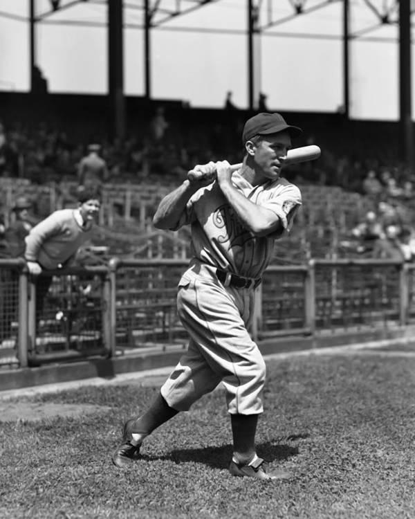 Baseball Print featuring the photograph Emmett J. Mueller by Retro Images Archive