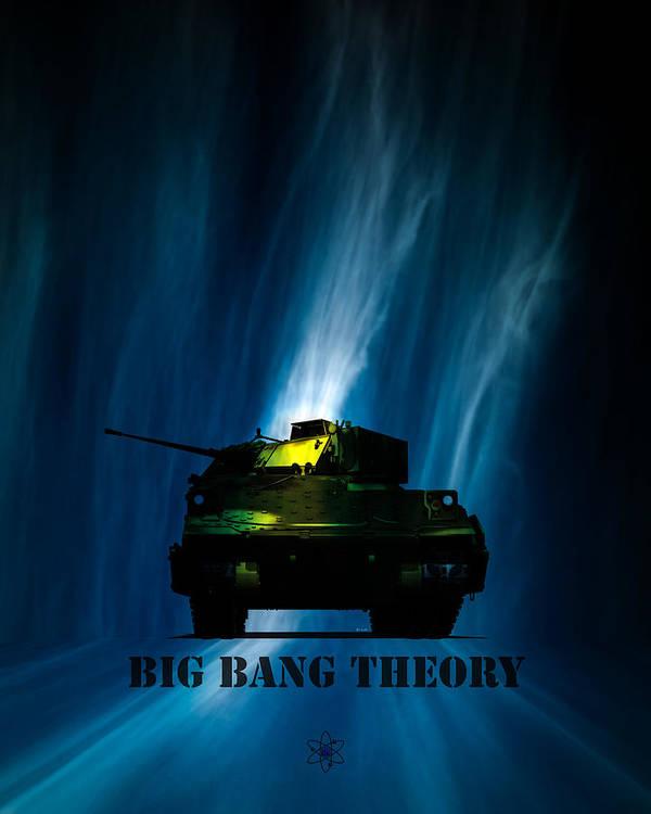 Big Bang Print featuring the digital art Big Bang Theory by Bob Orsillo