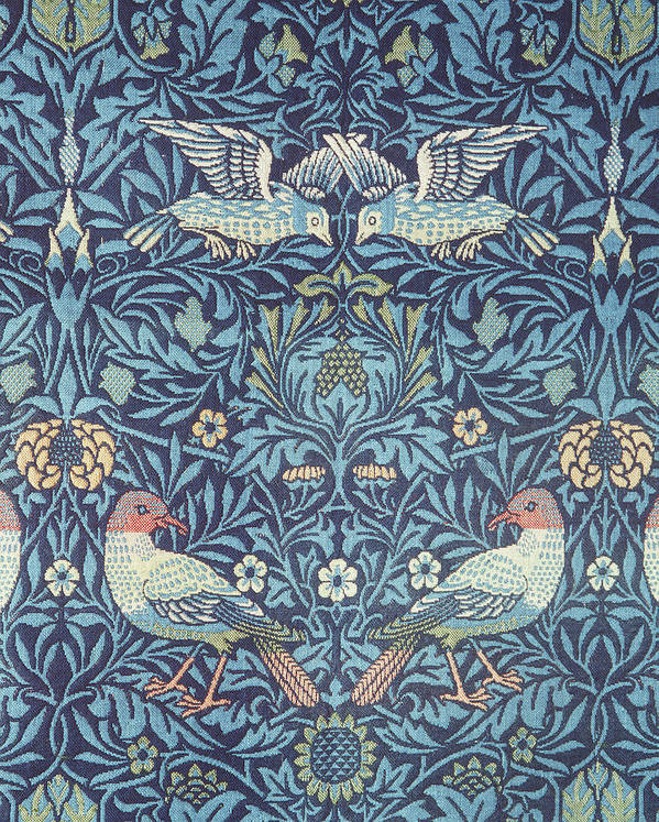 William Print featuring the tapestry - textile Blue Tapestry by William Morris