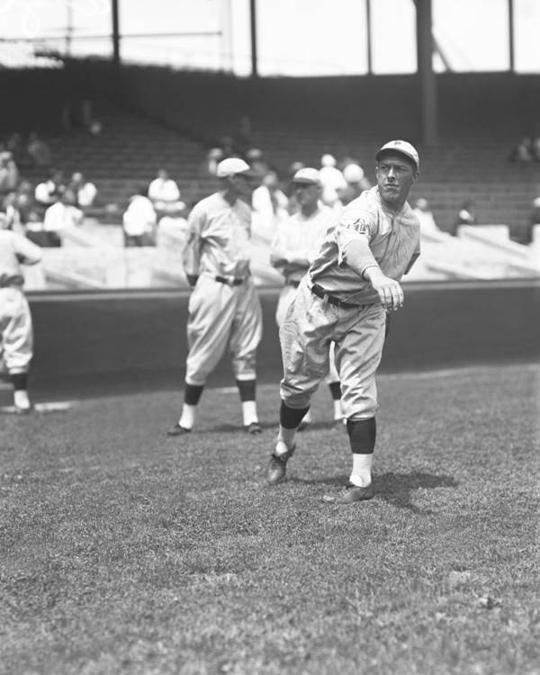 Baseball Print featuring the photograph Claude W. Willoughby by Retro Images Archive