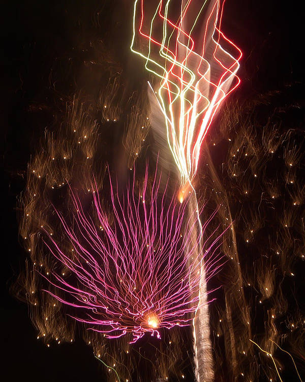 Fireworks Print featuring the photograph Fireworks by Aimee L Maher Photography and Art Visit ALMGallerydotcom