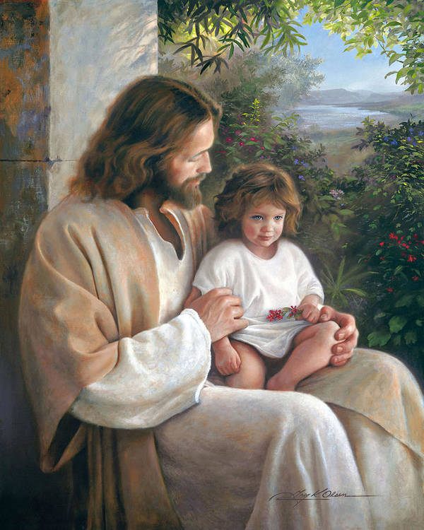 Jesus Print featuring the painting Forever And Ever by Greg Olsen