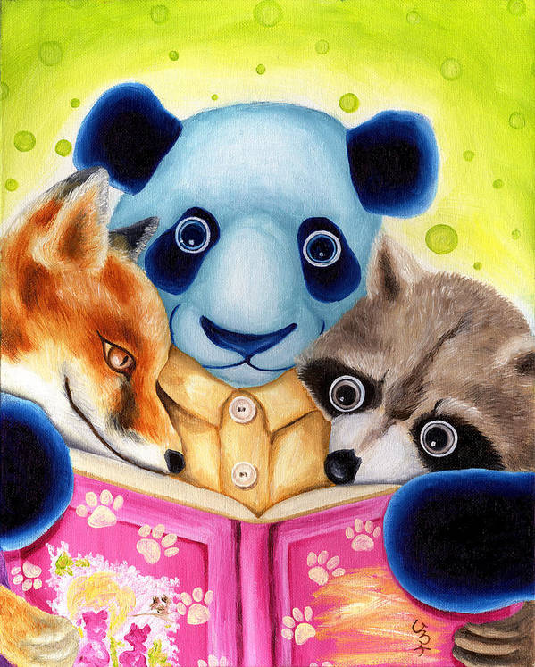 Panda Illustration Print featuring the painting From Okin The Panda Illustration 10 by Hiroko Sakai