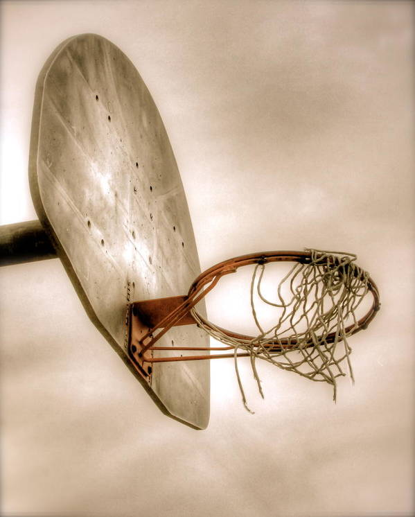 Basketball Print featuring the photograph Hoop by Steve Ratliff