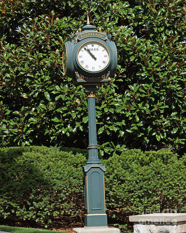 Keeneland Race Track Print featuring the photograph Keeneland Rolex by Roger Potts