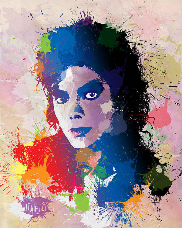 Michael Jackson Print featuring the digital art King Of Pop by Anthony Mwangi