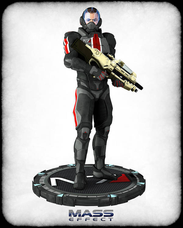 Mass Effect Print featuring the digital art Mass Effect - N7 Soldier by Frederico Borges