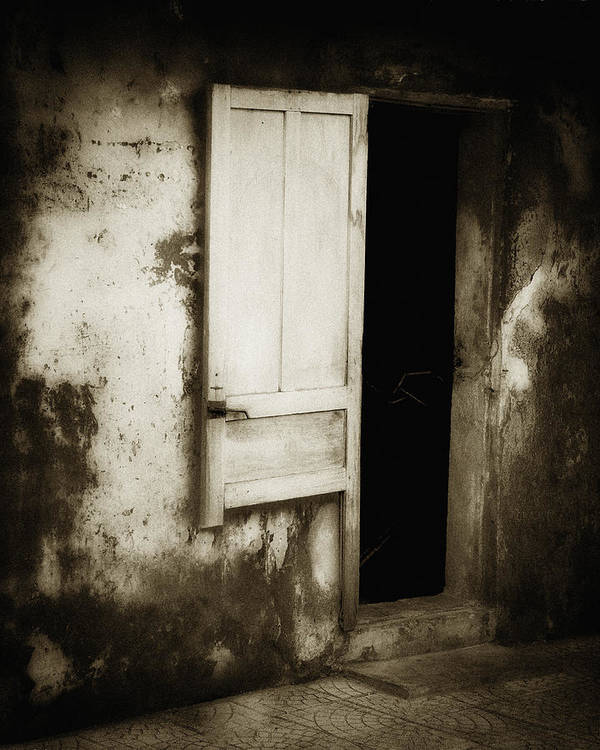 Asia Print featuring the photograph Open Door by Skip Nall