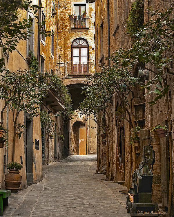 Orvieto Print featuring the photograph Orvieto Side Street by Lynn Andrews