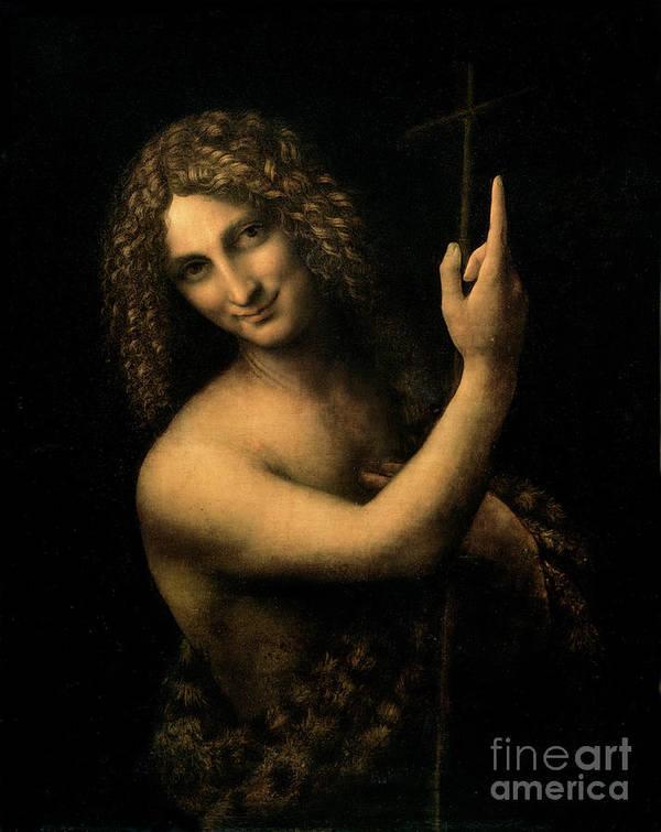 St Print featuring the painting Saint John The Baptist by Leonardo da Vinci