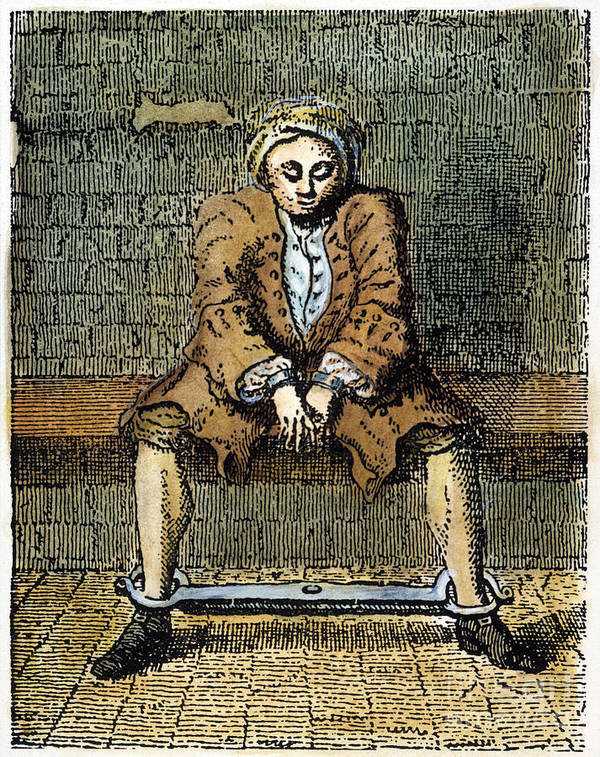 18th Century Print featuring the photograph London: Debtors Prison by Granger
