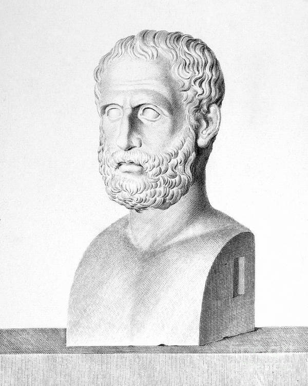 3rd Century B.c Print featuring the photograph Theophrastus by Granger