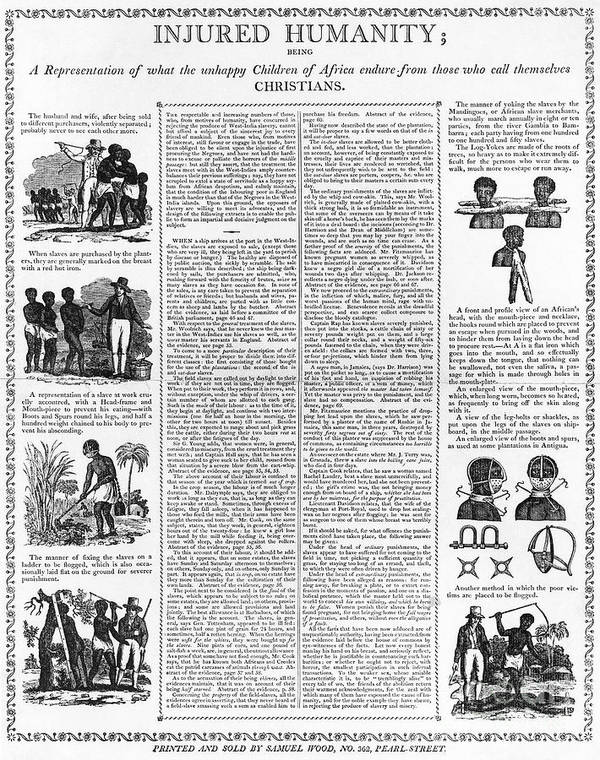 1807 Print featuring the photograph Anti-slavery Broadside by Granger