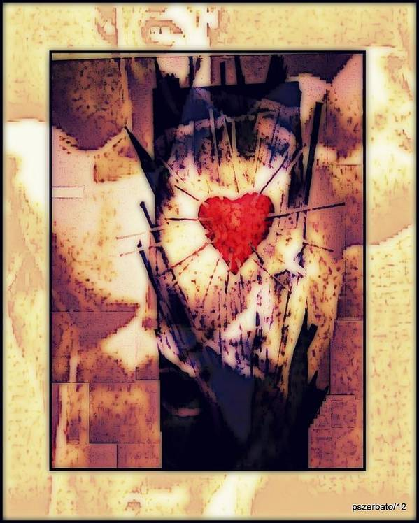 Heart Print featuring the digital art Awareness In Potential State by Paulo Zerbato