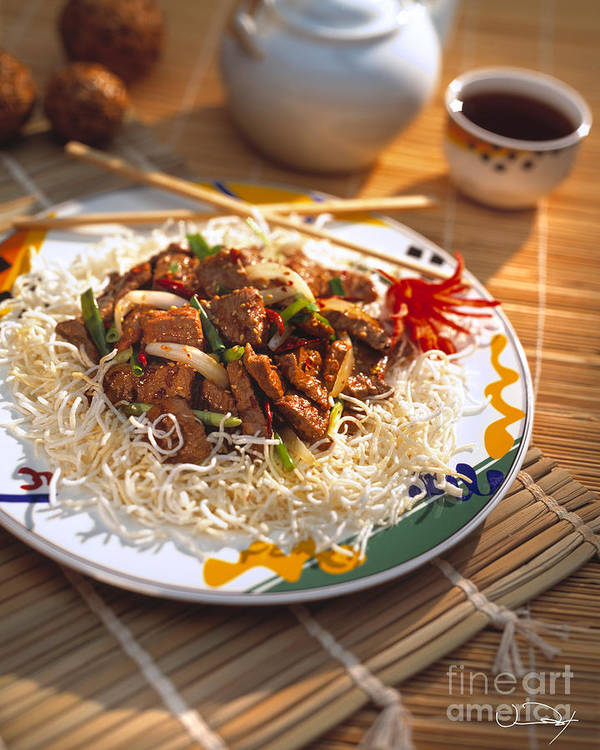 Beef Print featuring the photograph Beef Stir Fry by Vance Fox
