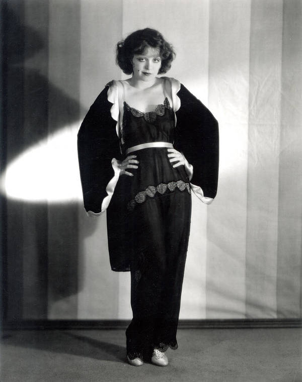 1920s Print featuring the photograph Clara Bow, Around 1929 by Everett