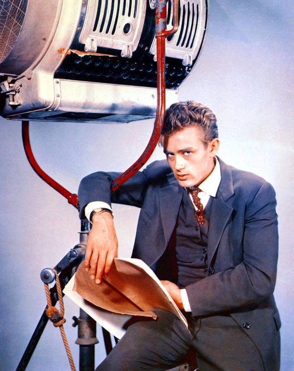 1950s Portraits Print featuring the photograph East Of Eden, James Dean, 1955 by Everett
