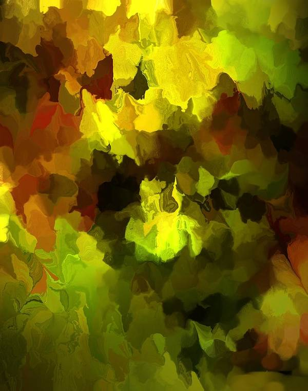 Fine Art Print featuring the digital art Late Summer Nature Abstract by David Lane