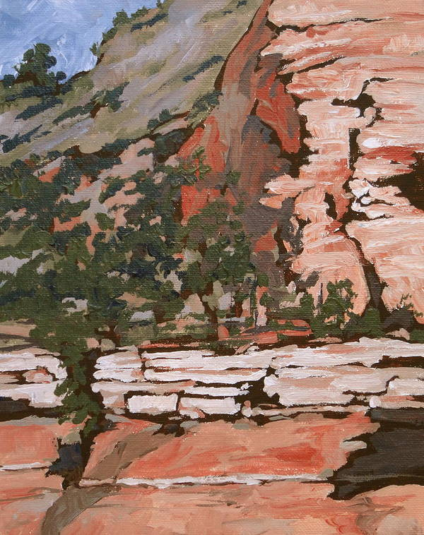 Sedona Print featuring the painting Layers by Sandy Tracey