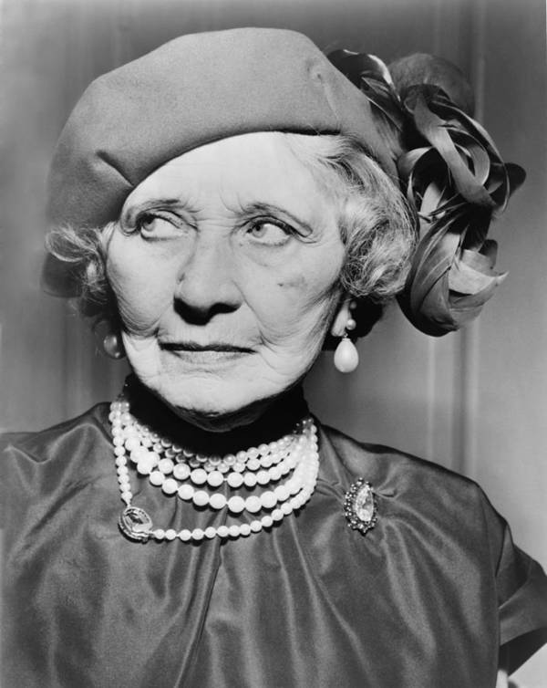 History Print featuring the photograph Mary Garden 1874-1967, At The Age Of 80 by Everett
