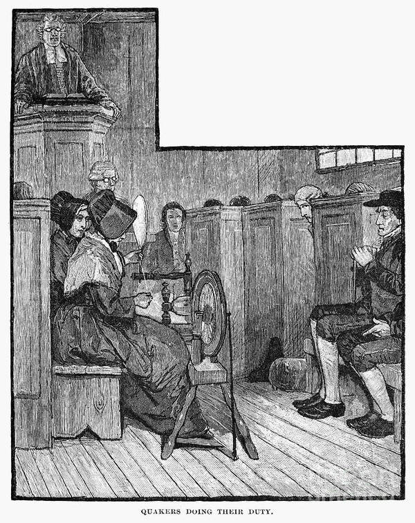19th Century Print featuring the photograph Quaker Meeting by Granger