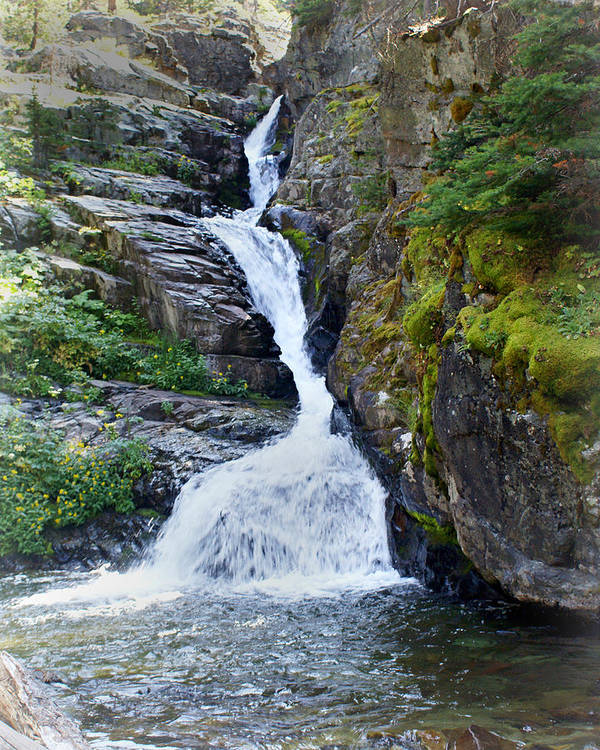 Glacier National Park Print featuring the photograph Tricky Falls by Marty Koch