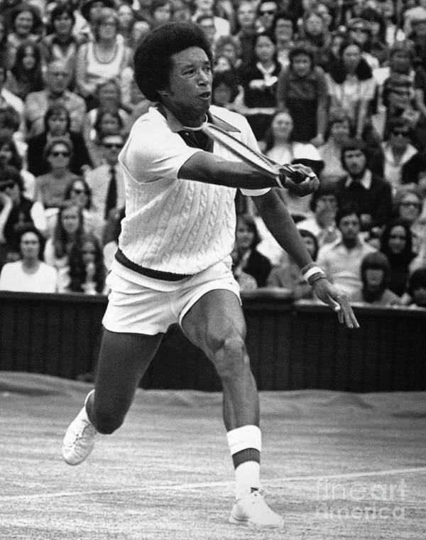 1975 Print featuring the photograph Arthur Ashe (1943-1993) by Granger