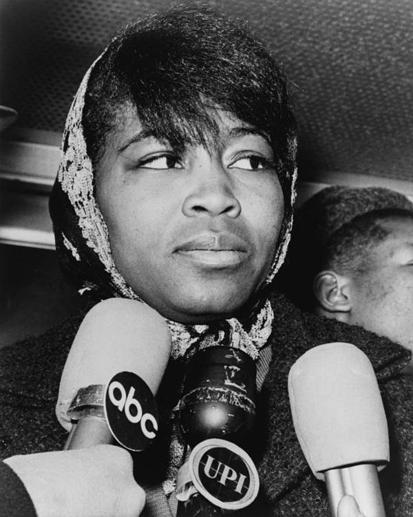 History Print featuring the photograph Betty Shabazz 1934-1997, Wife by Everett