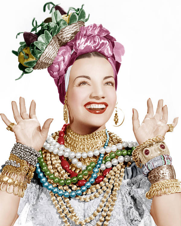 1940s Portraits Print featuring the photograph Carmen Miranda, Ca. Late 1940s by Everett