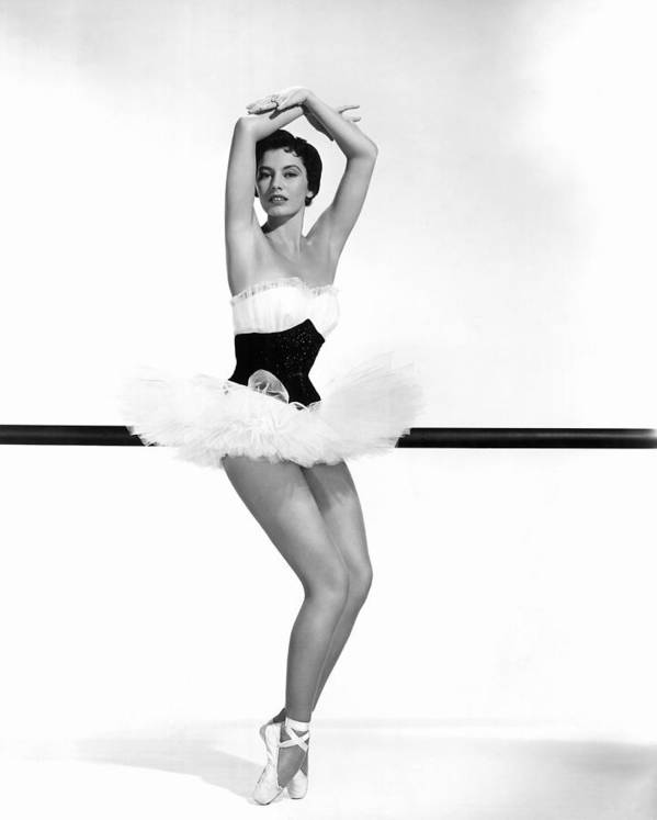 1950s Portraits Print featuring the photograph Cyd Charisse, 1955 by Everett