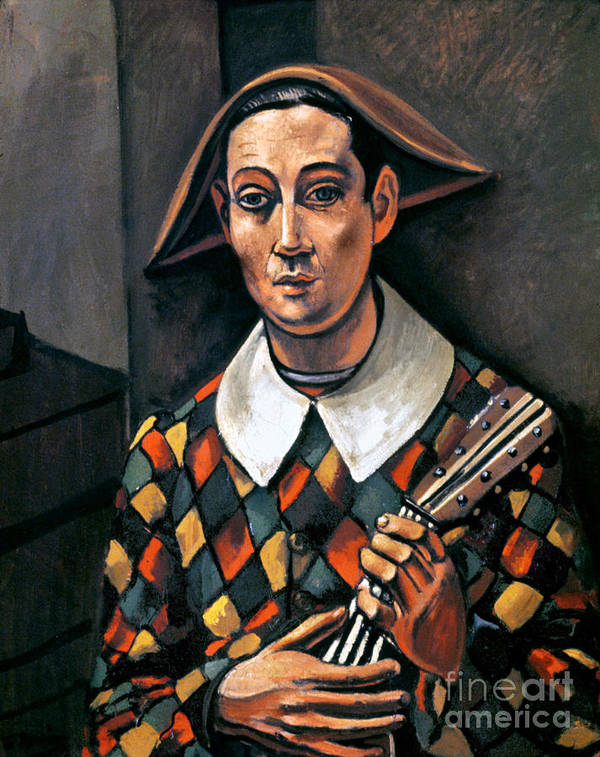 1919 Print featuring the photograph Derain: Harlequin, 1919 by Granger