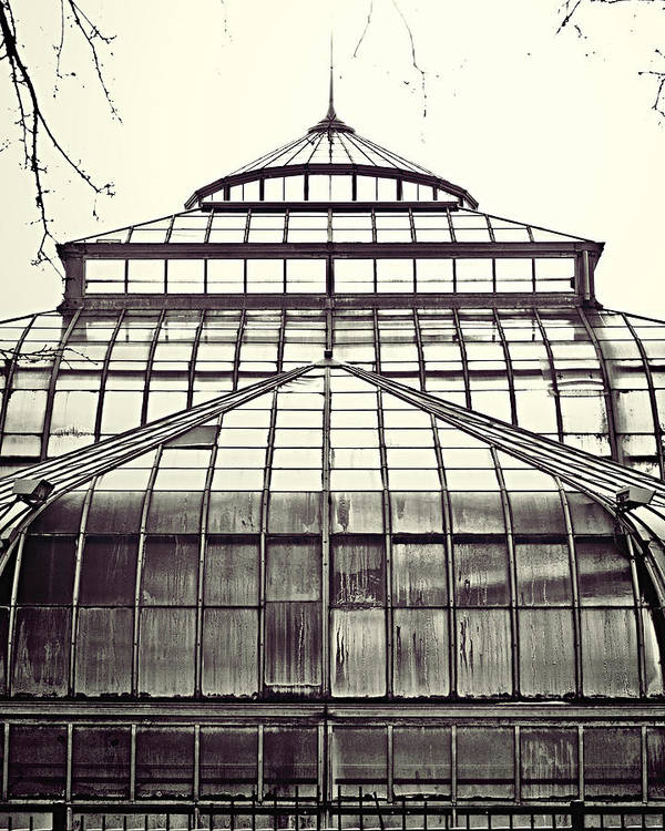 Conservatory Print featuring the photograph Detroit Belle Isle Conservatory by Alanna Pfeffer
