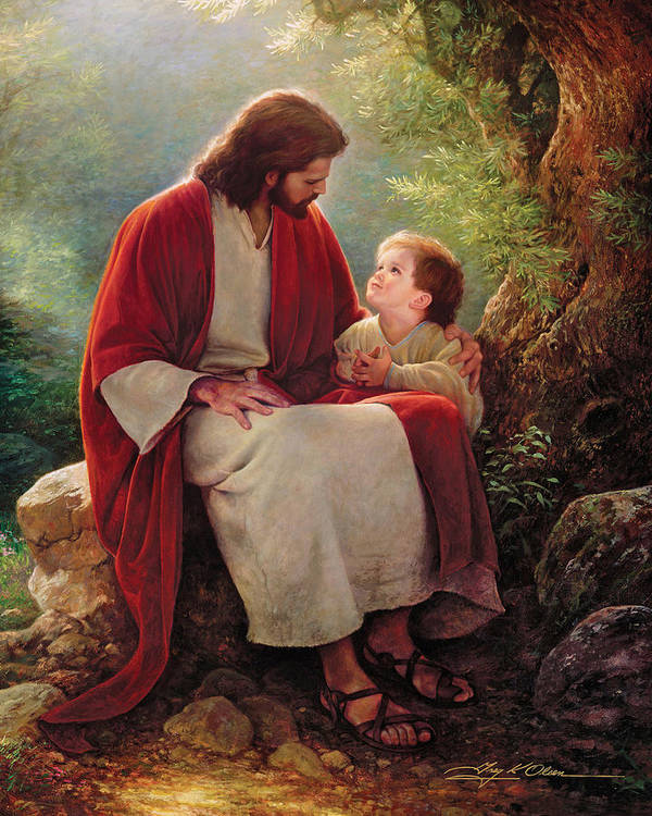 Jesus Print featuring the painting In His Light by Greg Olsen