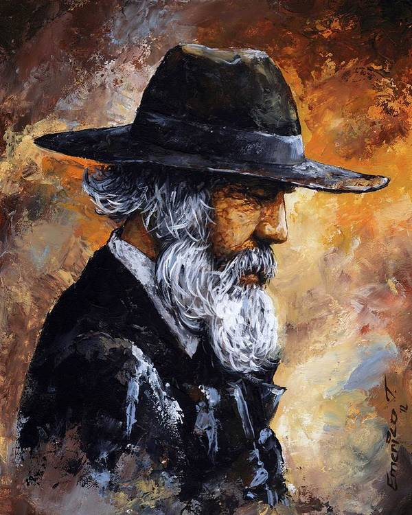 Portrait Print featuring the painting Old Man by Emerico Imre Toth