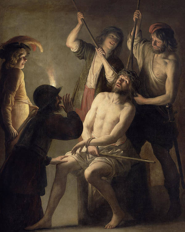 Jesus Print featuring the painting The Crowning With Thorns by Jan Janssens