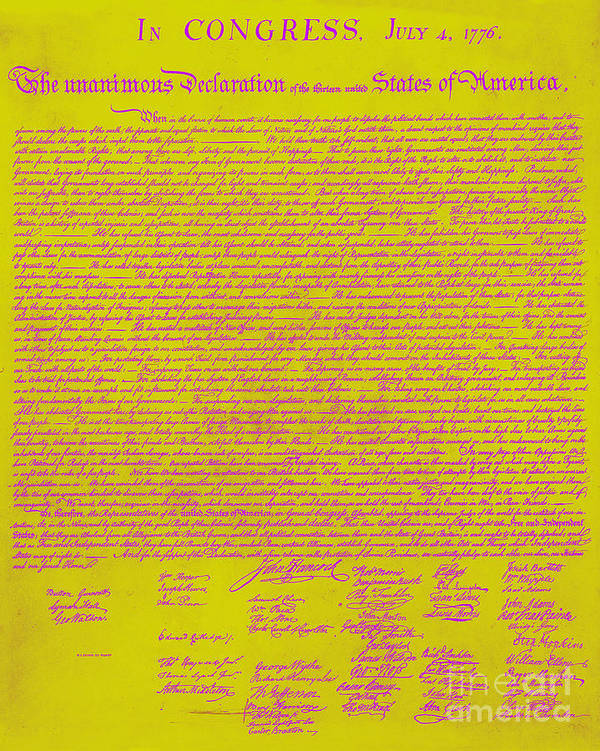 Usa Print featuring the photograph The United States Declaration Of Independence 20130215m68 by Wingsdomain Art and Photography