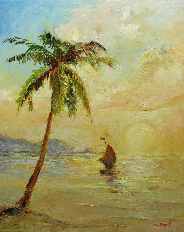 Landscape Print featuring the painting To The West by Tigran Ghulyan