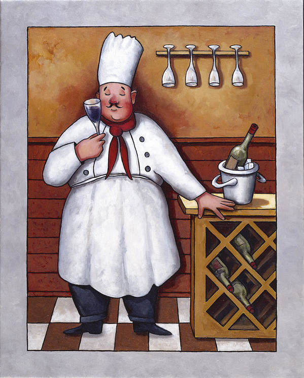 Chef Print featuring the painting Chef 2 by John Zaccheo