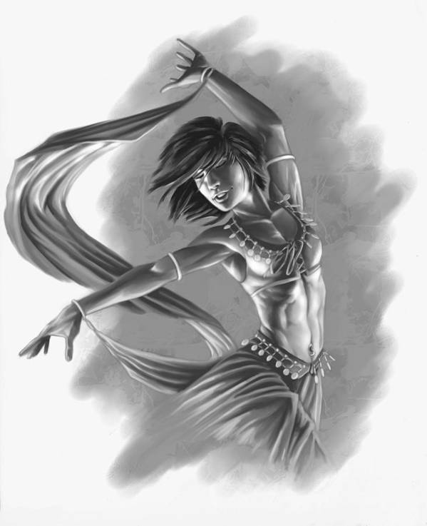 Dancer Print featuring the digital art Dervish by Bryan Syme