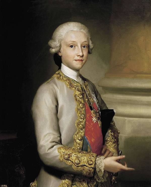 Vertical Print featuring the photograph Mengs, Anton Raphael 1728-1779. Infante by Everett