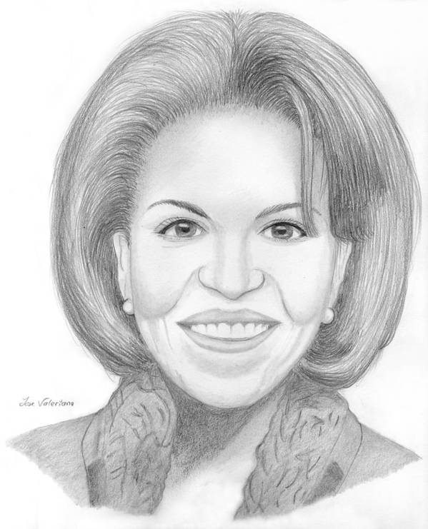Michelle Obama Print featuring the drawing Michelle Obama by M Valeriano