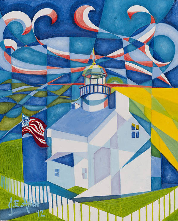 Dr Joe Allen Artwork Print featuring the painting Old Point Loma by Joseph Edward Allen