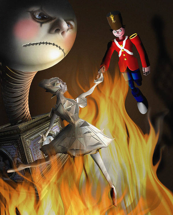 Tin Soldier Print featuring the digital art The Steadfast Tin Soldier ...the Envy... by Alessandro Della Pietra