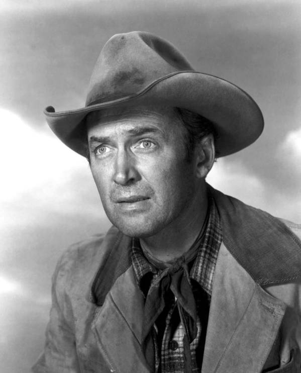 1930s Portraits Print featuring the photograph Far Country, The, James Stewart, 1955 by Everett